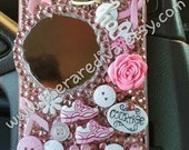 Cute, Bling, Deco Handmade Phone Case - Breast Cancer Awarenes