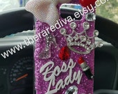 Cute, Bling, Deco Handmade Phone Case - Boss Lady