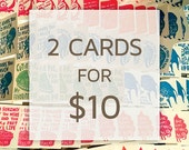TWO Cards for TEN Dollars