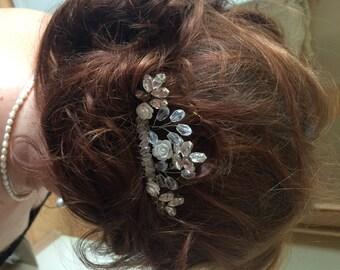 Bridal Hair Comb, Wedding Hair Comb,  Swarovski Hair Comb, Bridal Comb Crystal,  Bridal Headpiece