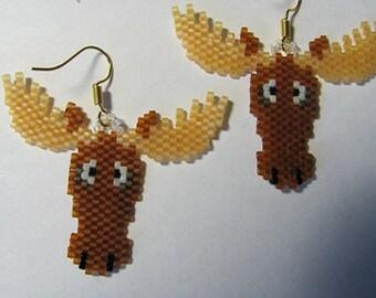 Cute little Whimsical Moose earrings