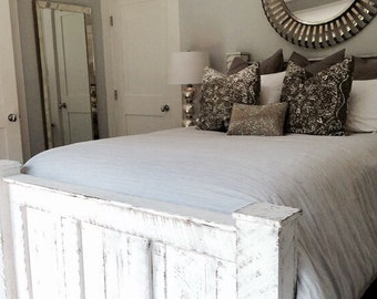 wood bed framebed framebedroom furntiturereclaimed wood bedrustic bedshabby chic furniturebeach furnitureplatform bedheadboard