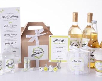 100 Wedding Water Bottle Labels - Wedding Favors - Vintage Water Labels