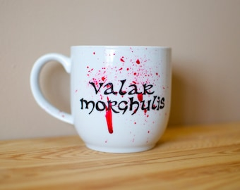 "Game of Thrones ""Valar Morghulis"" Blood Spatter Mug"