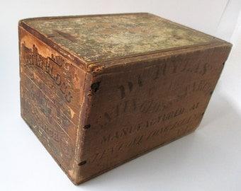 Antique Wood Box Labels Stenciling, 1800s, Glen Cove, NY, Antique Stencil