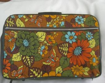 Vintage FLOWER POWER Suitcase