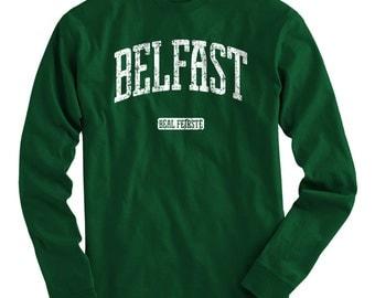 LS Belfast Tee - Long Sleeve T-shirt - Men and Kids - S M L XL 2x 3x 4x - Belfast Shirt, Northern Ireland, Irish - 4 Colors