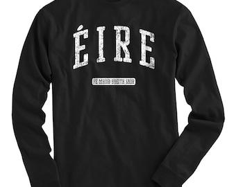 LS Eire Ireland Tee - Long Sleeve T-shirt - Men and Kids - S M L XL 2x 3x 4x - Eire Shirt, Irish - 4 Colors