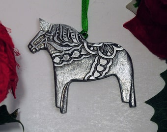 Dala Christmas Ornament- Made in America from Fine Pewter