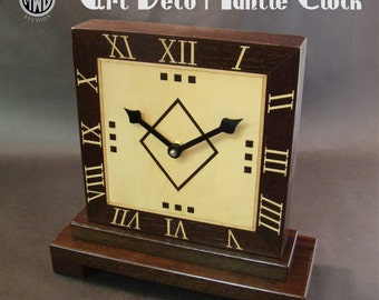 Art Deco styled mantle clock for the home or office.  LMC-3 Free Shipping.