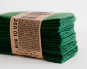 Cloth Wipes Diaper Bag Wipes -  Set of 20 - Forest Green -   Double Layer