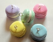 Clay Macaroon Charms  - Cute Food Charms - Choose from 5 Colors