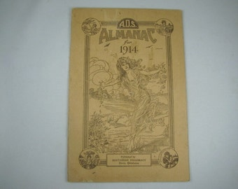 1914 Almanac for American Druggists Syndicate