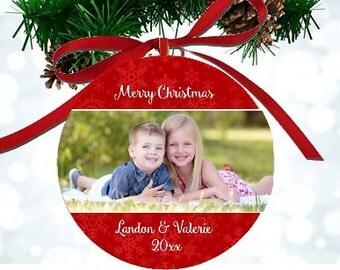 Personalized Christmas Photo Ornament Keepsake