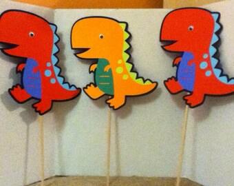 Cute Dinosaur Centerpiece Set of Three