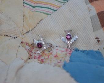 Vintage Scottish Thistle Earrings
