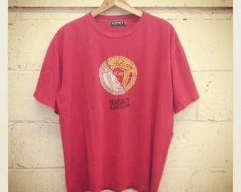 Versace Jeans Tee Shirt Red Soft Cotton