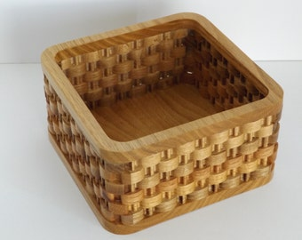 Handcrafted Faux Weave Basket