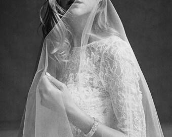 Wedding VEIL Ribbon Edge 1.5M  white Bride accessory