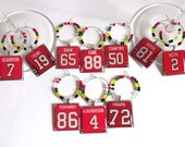 Chicago Blackhawks Wine Charm Set of 10