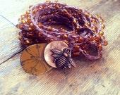BEEutiful You: Versatile crocheted necklace / bracelet / belt / headband