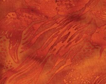 Orange  Koi Fish Batik from Island Batiks