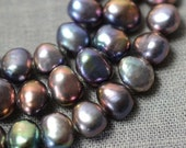 AA Good Quality Freshwater Pearl Necklace Corn pearl Baroque Peacock Purple Loose beads 6.5-7.0mm 15.7 inches Full Strand Item No : PL1174