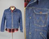1960s Wrangler 24MJZ Jean Jacket Blue Bell Indigo Denim Jean Jacket
