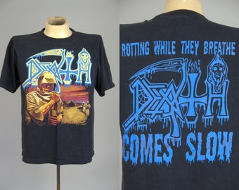 80s DEATH Leprosy Front and Back Rare Death Metal Thrash T Shirt Large