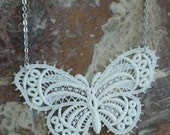 White Butterfly Lace Necklace