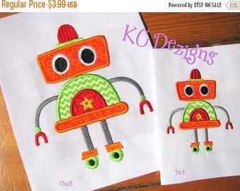 50% OFF SALE Robot 08 Machine Applique Embroidery Design - 4x4, 5x7 & 6x8