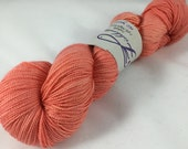 Peachy Keen: Superwash Isabella Sock Yarn, 150 grams!