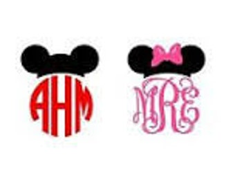 Monogrammed Mickey or Minnie Mouse Decal /RTIC YETI