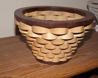 Decorative Wood Bowl / Basket