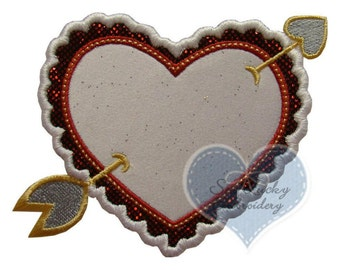 Lovestruck Heart Applique Embroidered Patch, Sew or Iron on