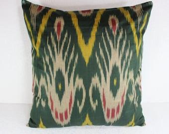 Cotton Ikat Pillow, Ikat Pillow Cover,  C103, Ikat throw pillows, Designer pillows, Decorative pillows, Accent pillows