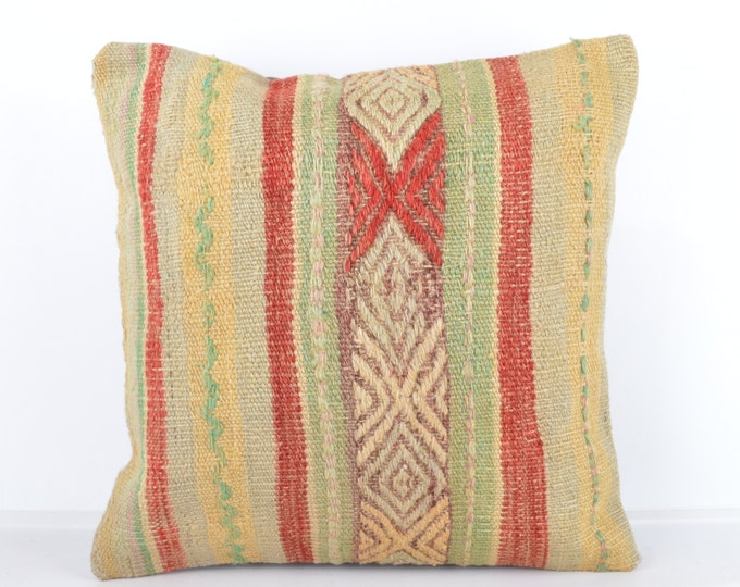 Kilim pillow, Kilim Pillow Cover k429, Turkish Pillow, Kilim Cushions, Bohemian Decor, Moroccan Pillow,  Bohemian Pillow, Turkish Kilim