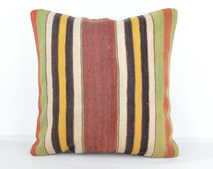 Kilim pillow, Kilim Pillow Cover k516, Turkish Pillow, Kilim Cushions, Bohemian Decor, Moroccan Pillow,  Bohemian Pillow, Turkish Kilim