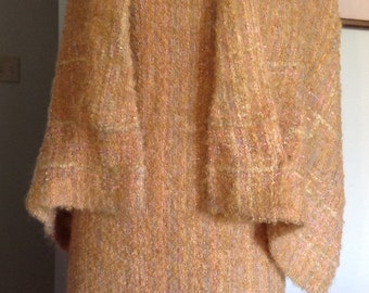 Vintage Form-fitting Mohair Dress with Wrap, c. 1960's