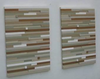 Wood Wall Art,  Reclaimed Wood Wall Art, Abstract painting,  Modern,Wood Sculpture, Contemporary,  Wall Art, Tans, Beige, light Grey