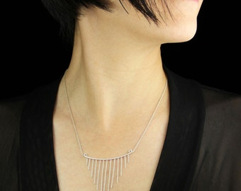 Sterling silver chain simple necklace Free US Shipping handmade Anni Designs
