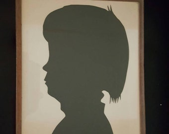 Vintage  silhouette wall hanging