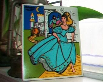 Vintage Cinderella Wood Puzzle Playskool Children's Puzzle Age 2 to 4