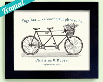 Together Theme Wedding Gift Bicycle for Two Tandem Bicycle For Couples Bride Groom Bicycle Wedding Newlyweds Engagement Gift