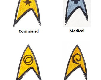 Set of Four Embroidered  Star Trek  Patches