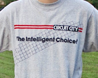 80s Circuit City shirt - Vintage awesome electronics tee - Old school big box store - Before it became a Superstore - Screen Stars