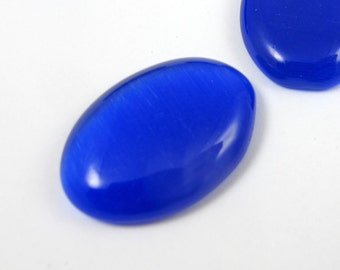 Glass Cabochon, Optic Blue Glass, Stones for Setting, DIY Jewelry
