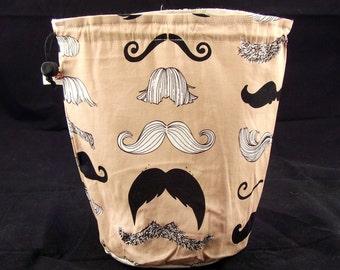 Regular size only. Moustache project bag