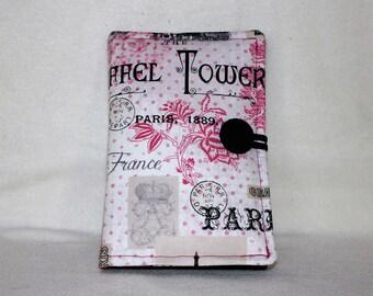 New Kindle Fire, Kindle Fire HD 6, Nook, Samsung, Nexus -- Eiffel Tower Paris - Pink, Black