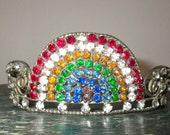 Vintage Rainbow Rhinestone Tiara